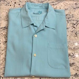 Tommy Bahama Silk Shirt Size L EUC